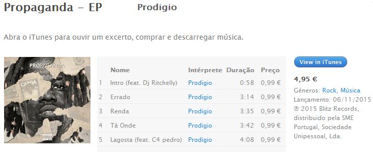 prodigio - propaganda tracklist